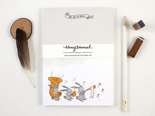 Whimsy Whimsical    Notepad   Let's Get It Done