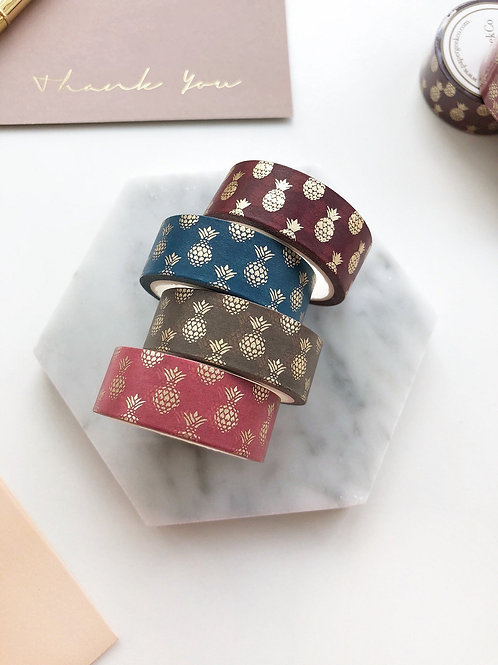 Paper Geek Co.   Washi Tape   Heritage Pineapple