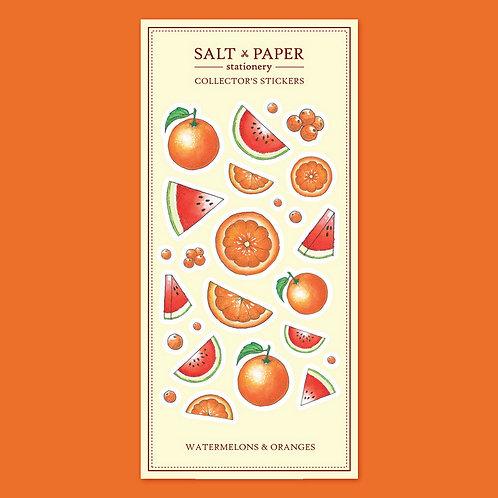 Salt x Paper | Collectors' Stickers | Watermelons & Oranges