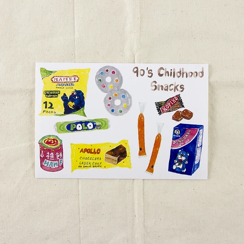 Fish Koou | Postcard | 90's Childhood Snacks II