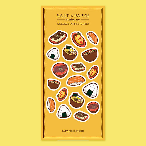 Salt x Paper | Collectors' Stickers | Japanese Food