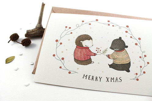 Whimsy Whimsical | Greeting Card | Merry X'mas