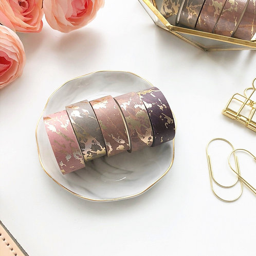 Paper Geek Co. | Washi Tape | Nude Marble Gold Foil
