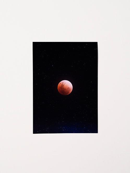 Iain With Eyes | Postcard | Super Blue Blood Moon