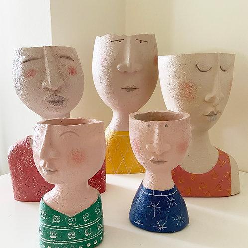 Human Figurine Planters