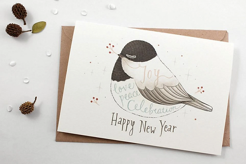 Whimsy Whimsical   Greeting Card   Happy New Year, Joy, Love, Peace Celebration