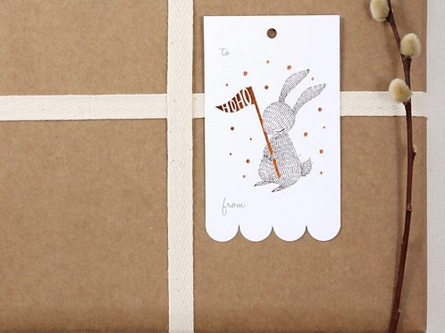 Whimsy Whimsical | Gift Tags | HoHo | Rabbit