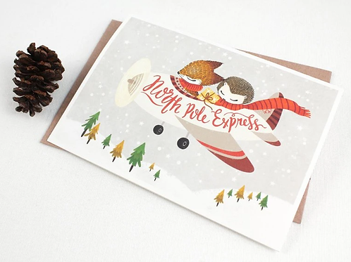 Whimsy Whimsical | Greeting Card | North Pole Express