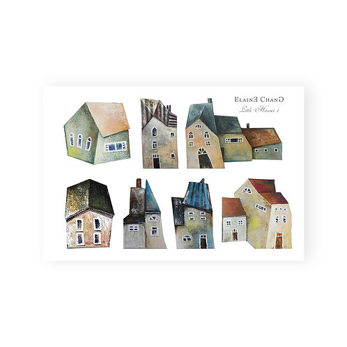 Heart Art Stickers | Houses