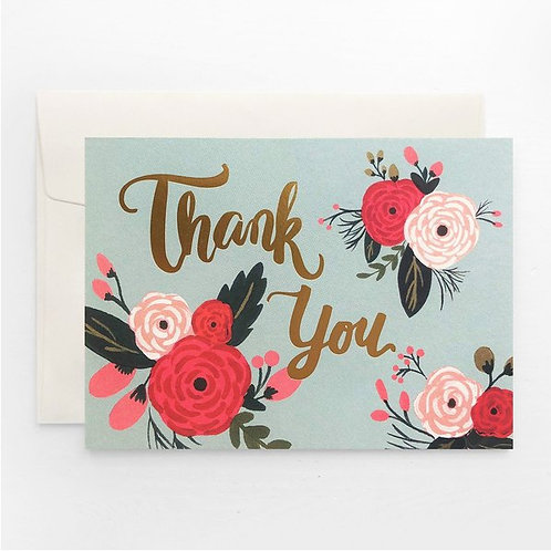 Paper Geek Co. | Greeting Card | Thank You | Blue Floral