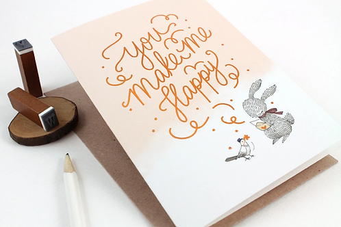 Whimsy Whimsical | Greeting Card | You Make Me Happy