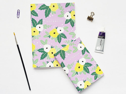 Pebble Paper Design | Notebook | Yellow Floral