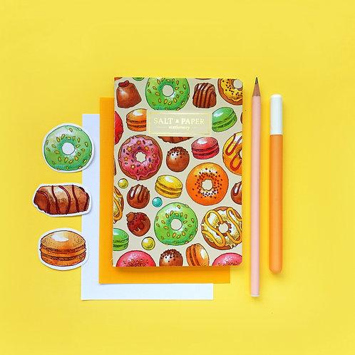 Salt x Paper | Notebook | Donuts & Macarons & Chocolates