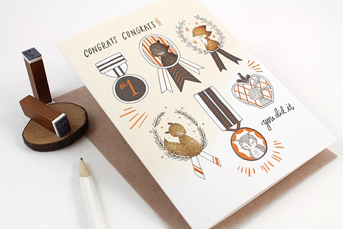 Whimsy Whimsical | Greeting Card | Congrats Congrats!! You Did It