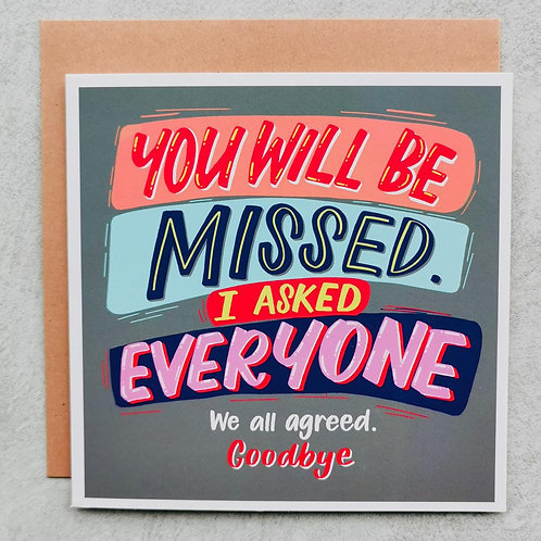 Emma5 Artisan | Greeting Cards | Will Be Missed