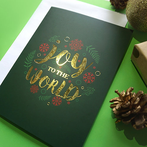 Salt x Paper | Greeting Card | Joy to the World