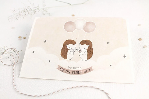 Whimsy Whimsical | Greeting Card | Be Mine, Up On Cloud No. 9