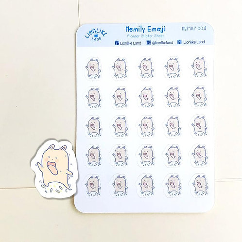 Lionlike Land | Stickers | HEMILY 004 | Hemily Tired