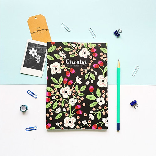 Pebble Paper Design | Notebook | Oriental Series | Exotic Floral
