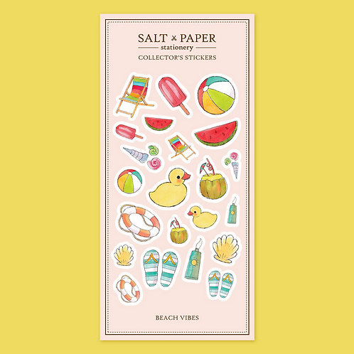 Salt x Paper | Collectors' Stickers | Beach Vibes