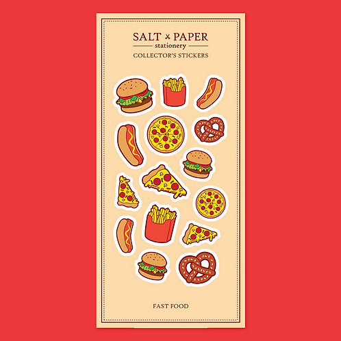 Salt x Paper | Collectors' Stickers | Fast Food