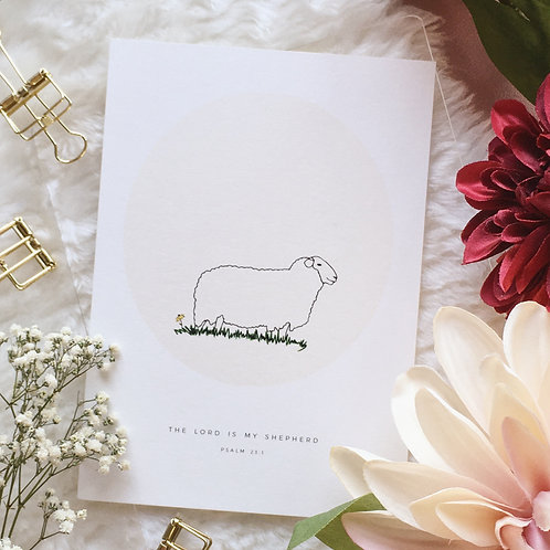 Eleagraphy | Artprint | The Lord Is My Shepard