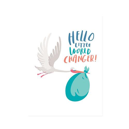 FS | NEWBORN CARDS | World Changer