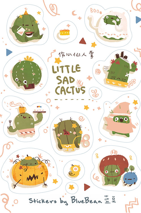 BlueBean | Stickers | Little Sad Cactus
