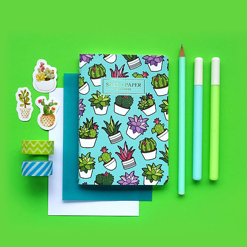 Salt x Paper | Notebook | Potted Succulents