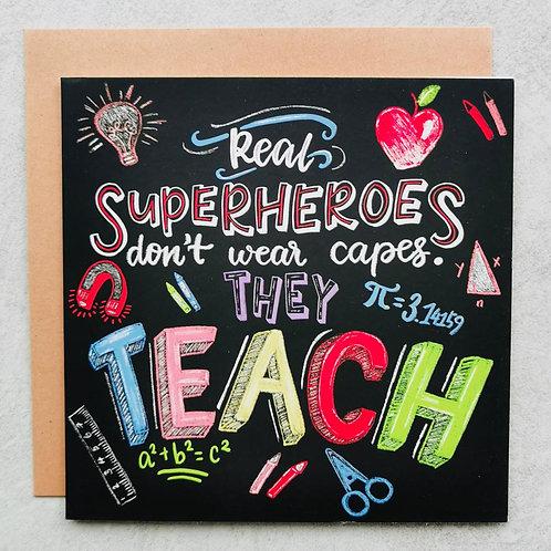 Emma5 Artisan | Greeting Cards | Superhero Teacher