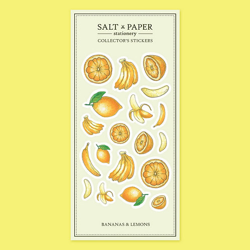 Salt x Paper | Collectors' Stickers | Bananas & Lemons