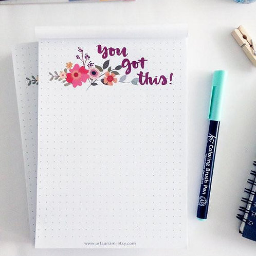 Artsunami | 5 x 7 Notepad | You Got This!