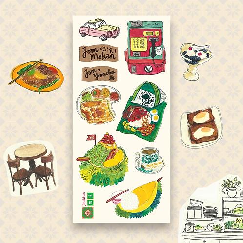 Jacktus | Kopitiam Sticker Set | Phone