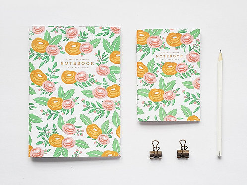 Pebble Paper Design | Notebook | Orange Floral