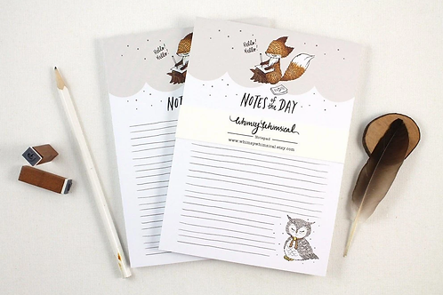 Whimsy Whimsical |  Notepad | Notes of the Day