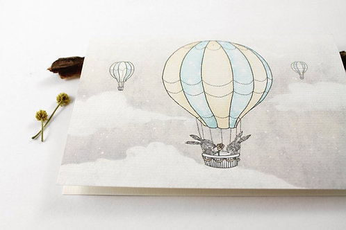 Whimsy Whimsical | Greeting Card | Just For You | Hot Air Balloons