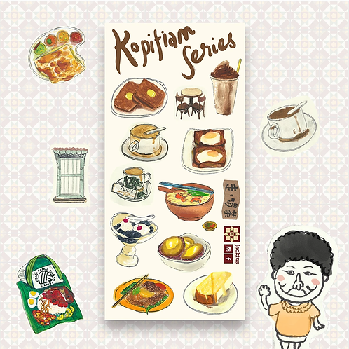 Jacktus | Kopitiam Sticker Set | Kopitiam Series