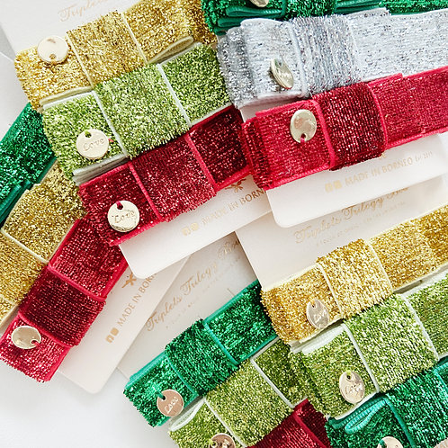Triplets Trilogy Bow | Tiny Shiny | Christmas Collection