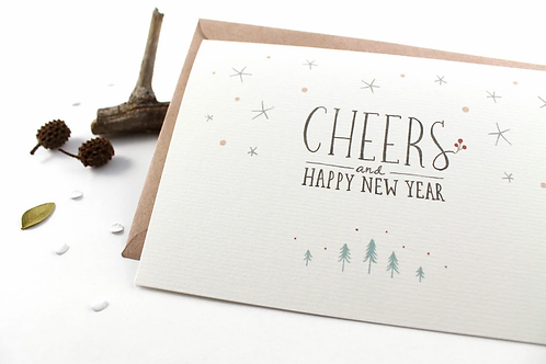 Whimsy Whimsical | Greeting Card | Cheers & Happy New Year
