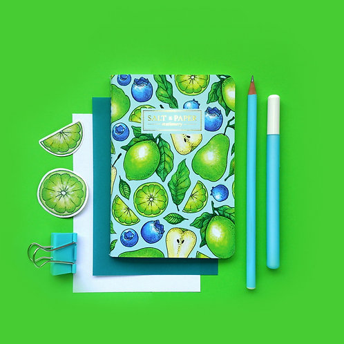 Salt x Paper | Notebook | Blueberries , Pears & Lime