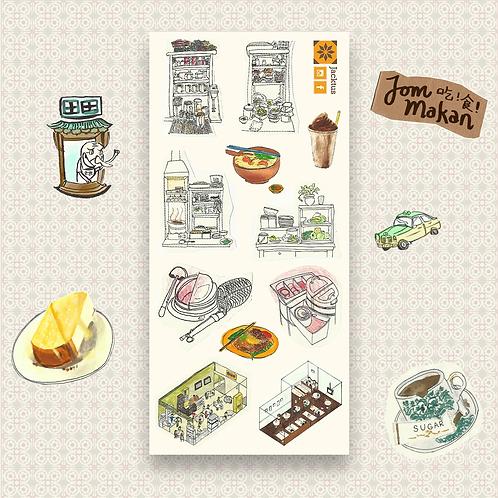 Jacktus | Kopitiam Sticker Set | Stalls
