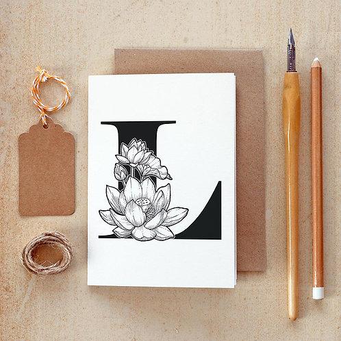 Salt x Paper | Greeting Card | The Alphabet Blossom Series | L
