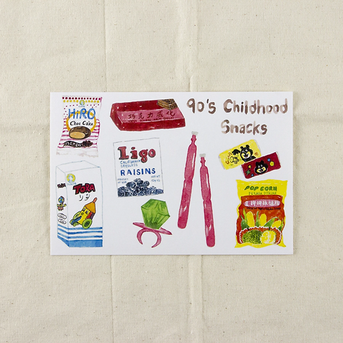 Fish Koou   Postcard   90's Childhood Snacks I