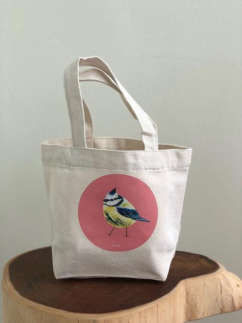 Heart Art | Mini Totebags | Beige Birdies