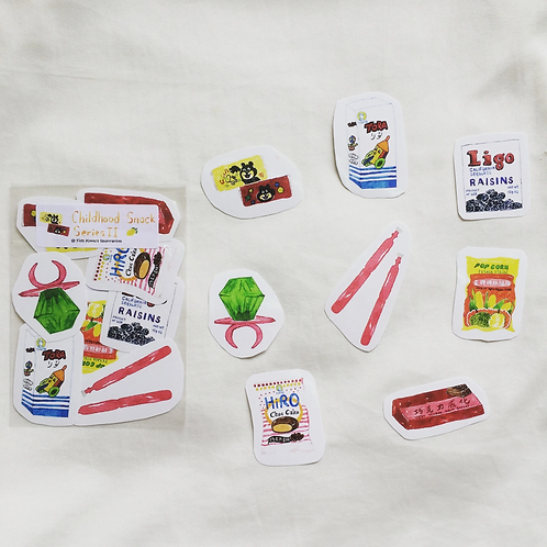 Fish Koou | Stickers | Childhood Snack Series II