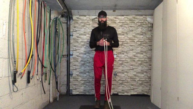 How to do jumping jacks with the rope...