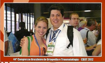 Congresso Brasileiro de Ortopedia e Traumatologia novembro de 2012 em Salvador - Bahia. Apresentando trabalho científico sobre o tratamento da luxação acrômio clavicular com placa com gancho.