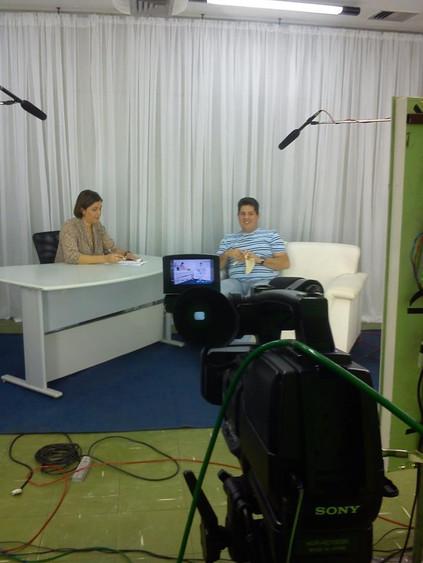 Entrevista para o programa saúde no polo. Gravada em outubro de 2012, bastidores da gravação