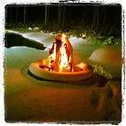 firepit and outdoor space