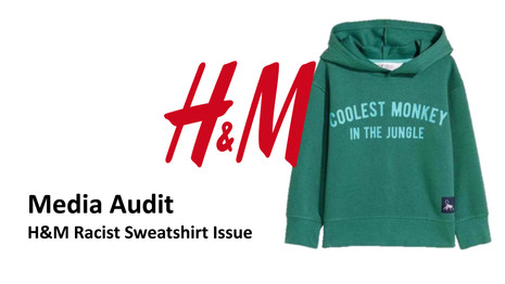 Media Audit of H&M Rasict Sweatshirt Iss